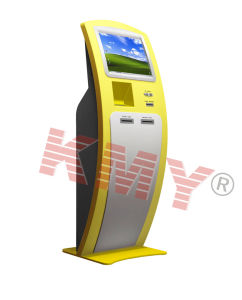 Slim Free-Standing Touch Screen Kiosk Design pictures & photos