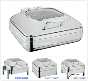 2/3 Size Induction Chafing Dish with 6.0LTR Food Pan (35327T) pictures & photos