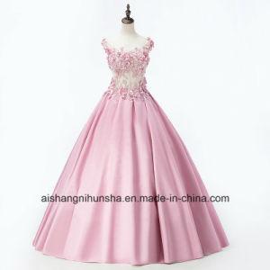 20924a497ce4 Lovemay Sexy Flower Luxury Applique Beaded Diamond Satin Wedding Dress