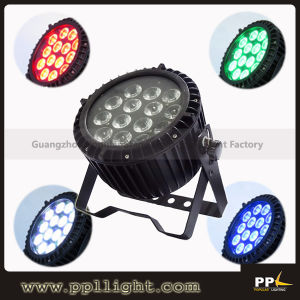 14X18W 6in1 Rgbaw+UV Outdoor Slim LED PAR 64 Can