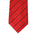 Fashionable Red Colour Blue Stripe Design Silk Printed Neckties pictures & photos