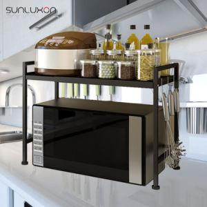 Black Adjule Storage Microwave Oven