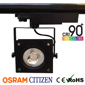 35W Square High CRI95 COB LED Tracklight with 120lm/W High Performance