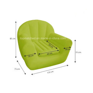 Flocking PVC Cheap Cooler Inflatable Lounger Chair Inflatable Sofa pictures & photos