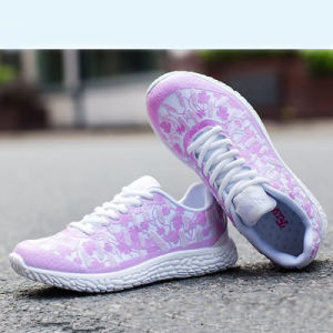 Breathable Mesh Soft Sole Casual Lace-up Running Shoes/Walk/Outdoor Sneakers