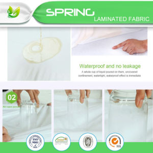 "White Twin Size Mattress Cover Protector Vinyl Sheet Waterproof (39""X76""+11.5"") pictures & photos"