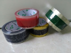 Sy off Print Carton Seal Tapes Water Based Acrylic Adhesive Clear BOPP Packing Tapes pictures & photos