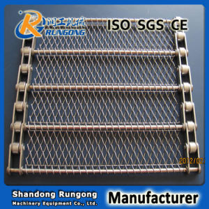 Conventional Turn Curve Conventional Weave Wire Mesh Belt for Bread pictures & photos