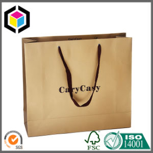 Metal Eyelet Gold Color Paper Promotion Carrier Bag