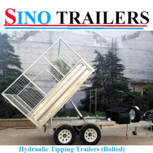 10X6 FT Galvanised Hydraulic Box Trailer