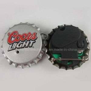 promotion gifts Printing bottle cap LED lapel pins (3569)