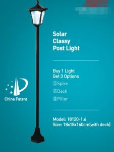 Solar Glassy Post Light-18120-1.6 pictures & photos
