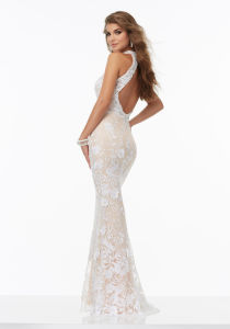 Lace Beaded Halter Prom Evening Cocktail Party Dresses Pd9909 pictures & photos
