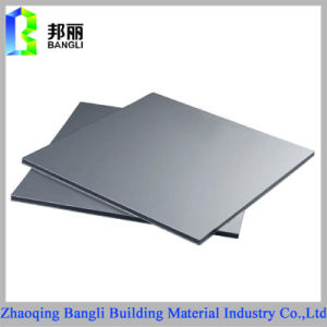 Building Material for Decoration Using Silver Color Aluminum Composite Panel
