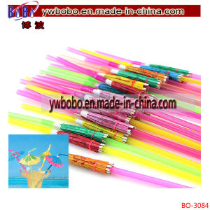 Plastic Drinking Straw Plastic Tube Wedding Halloween Holiday Gifts (BO-3084) pictures & photos