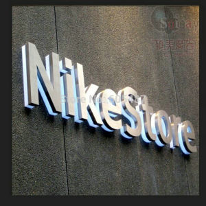 good quality backlit stainless steel shop front signs led 3d illuminated letters signs for advertising customized