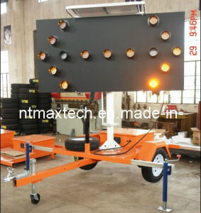 Trailer Mounting Flashing Traffic Arrow Board Sign Auto Dimming Energy Saving pictures & photos