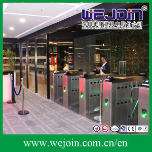 Automatic Flap Barrier with Fingerprint System Used at High-Level Club pictures & photos