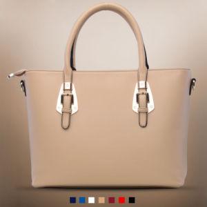 Promotional Pu Leather Brown Woman Fancy Handbag Xd140065