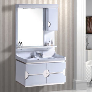 Modern PVC Toilet Cabinet with Mirror pictures & photos