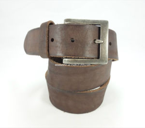 High-Quality Man Jeans Belt of Full Grain Leather (EUBL0206-40)