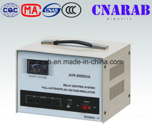 Current Type Single Phase Stabilizer, AVR Automatic Voltage Stabilizer 220V AC 2000va for Home Use