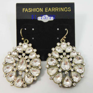 New Item Glass Acrylic Stones VAL Shape Fashion Jewellery Earrings
