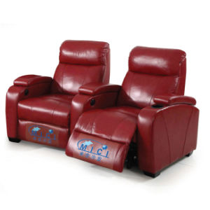 Red Leather Electric Home Theater Recliner Sofa 6031TV pictures & photos