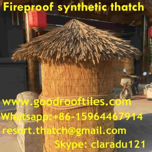 Fireproof Artificial Thatch Synthetic Resin Thatch Plastic Palm pictures & photos