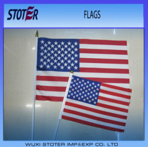 Cheap USA Hand Held Waving Stick Flags