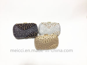 Fashion Rivet and Ctystal Ladies Eveningbag, Party clutch Bag pictures & photos