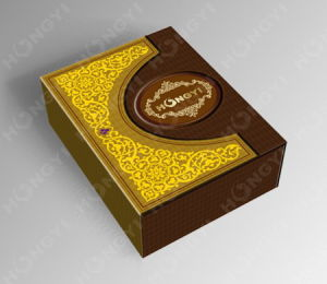 Brown Embossed+Glossy Custom Perfume Box for Gift, Food Packaging (HYP016)