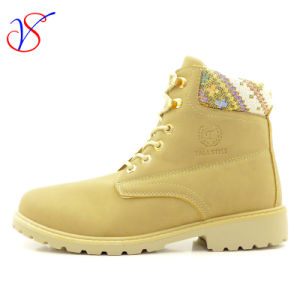 2016 New Style Women Work Boots Shoes for Job with Quick Release (SVWK-1609-026 LIGHT TAN)