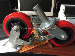 "5"" Square Stem Black Hard Rubber Wheel Caster, Scaffolding Caster Wheel, Scaffold Rolling Tower Castersus $2.5-4 / Piece 1 Piece (Min. Order)"