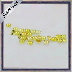 Beautiful Round Yellow Synthetic Sapphire Gemstone pictures & photos