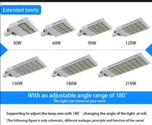 CE RoHS FCC 150W LED Street Light with CREE LEDs