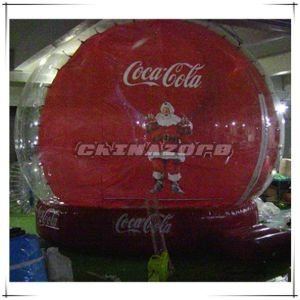Custom Made Inflatable Christmas Snow Globe for Business Promotion