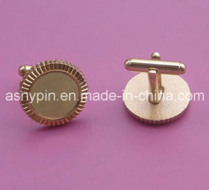 Blank Round Cuff Link Cufflinks Gold Tone pictures & photos