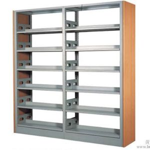 Double Column Innovative Bookcase School Used Library Furniture/Bookshelf/Book Shelf/Shelving/Shelf pictures & photos