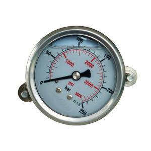 2.5inch-63mm Half Stainless Steel Back Liquid Filled Manometer with Clamp pictures & photos