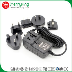 24V1.5A AC/ DC Power Adaptor with Exchangeable Us Au UK EU Jp Cn Plugs pictures & photos