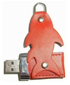 Leather Swivel Fish Style USB Flash Drive Suitable for Promotional Gifts, Plug-and-Play Functions pictures & photos