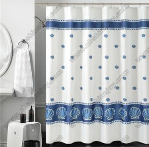 Polyester Transparent Fancy Shower Curtain pictures & photos