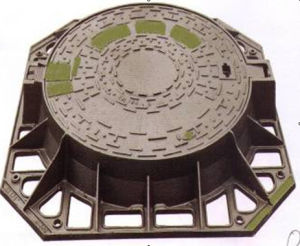 Ductile Iron Casting Manhole Cover with Round Frame pictures & photos