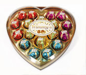 18 Pieces Colorful Heart Chocolate (H18C)