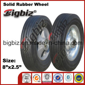 Solid 8X2.5 Rubber Wheelchair Wheel for Sale pictures & photos