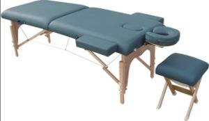 Wooden Massage Table with Headrest and Armrests (MT-007) pictures & photos