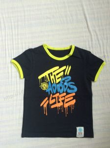 Children Clothing, Boy T-Shirt with Short Sleeve for Summer Sq-6297