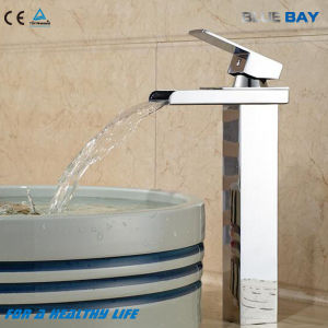 Single Lever Brass Waterfall Lavatory Mixer pictures & photos