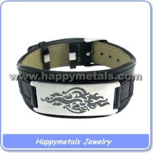 2013 PU Leather Bracelet with Stainless Steel Clasp (B8305)